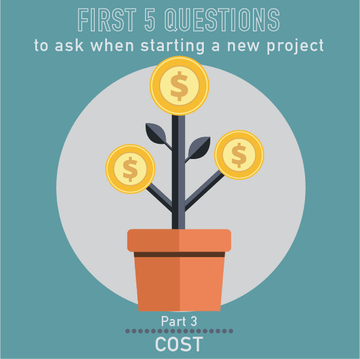 PM Happy Hour 003-Cost? The THIRD question to ask whenever you start a new project