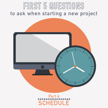 PM Happy Hour 004- Schedule? The FOURTH question to ask when starting a new project
